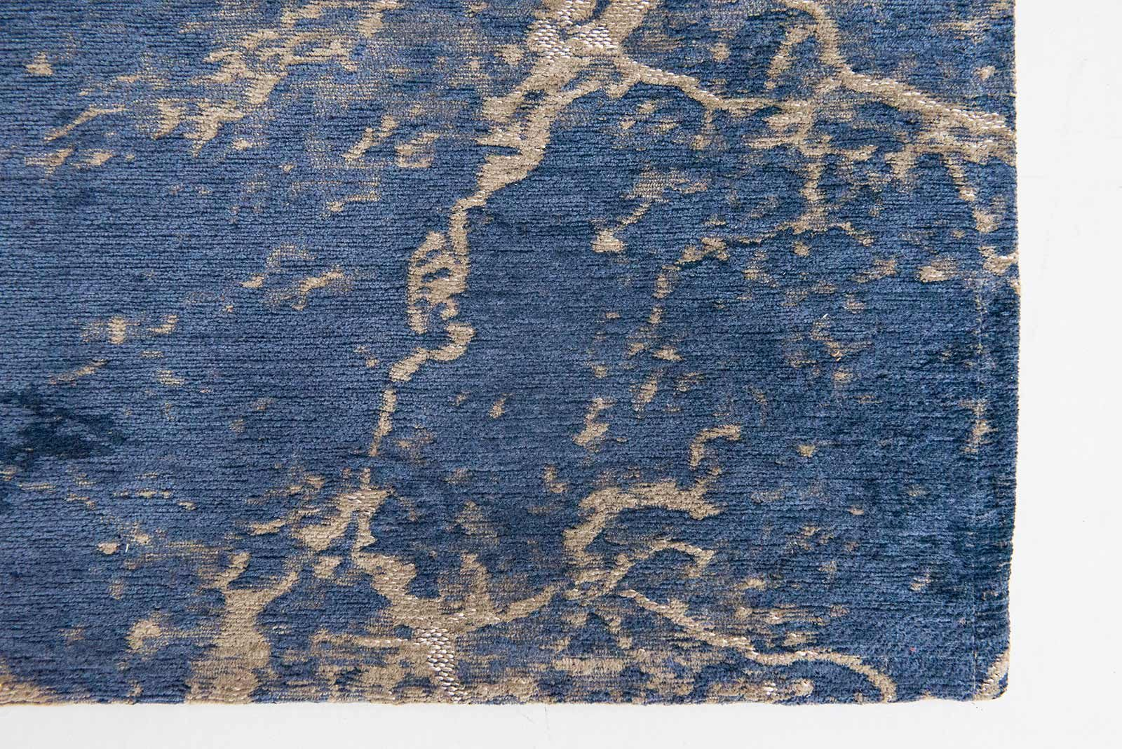 Louis De Poortere rug LX 8629 Mad Men Cracks Abyss Blue zoom 3