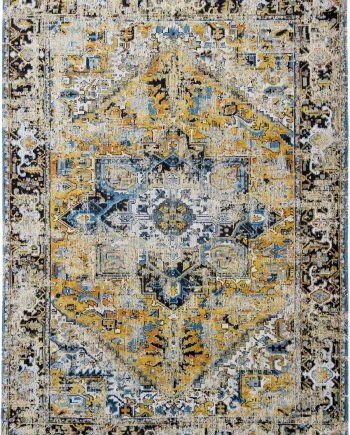 Louis De Poortere rug LX 8704 Antiquarian Antique Heriz Amir Gold