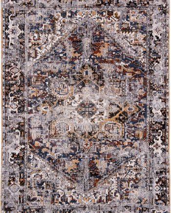 Louis De Poortere rug LX 8707 Antiquarian Antique Heriz Divan Blue